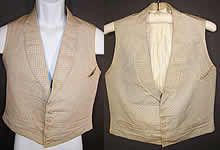 Grumio; simple, understated perhaps with browns and orange  1850s Silk Vest