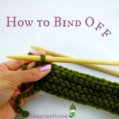 CreatiKnit | How To Bind Off Knitting For Beginners!