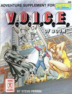 Voice of Doom Hero Games, The Voice, Champion, Adventure, Superhero, Retro, Cover, Playing Games, Gaming