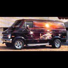 Custom 70's Dodge Boogie Van