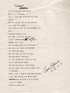 Scarlet by Charles Bukowski