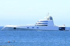 The other one: This is Melnichenko's second yacht, the 394ft Motor Yacht A, which has a crew of more than 35