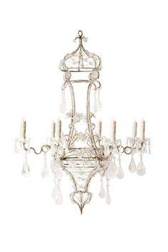 D Home - Mar/April 2016: 'Where To Splurge On Your Home' Ebanista's Castalla Chandelier http://www.ebanista.com/lighting/chandeliers/castalla-chandelier-974/