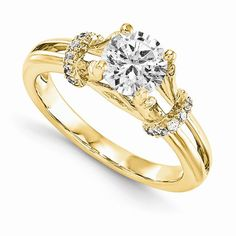 14KY AA Diamond Semi-mount Engagement Ring