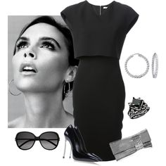 """Victoria Beckham would totally wear this!"" by borntoread on Polyvore"