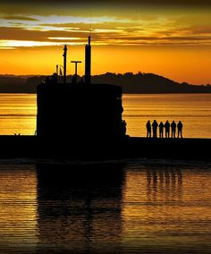 Royal Navy Submarine HMS Triumph Enters HMNB Clyde by Defence Images, via Flickr