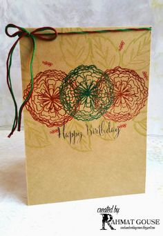 Embossed flowers on kraft