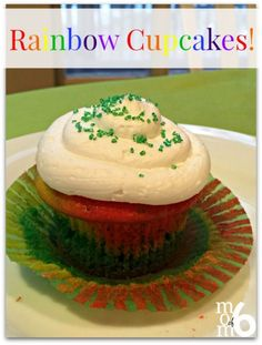 "This is more of a ""technique"" than a recipe, but these rainbow cupcakes sure have a ""WOW"" factor when the kids bite into them!"