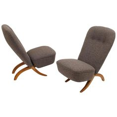 """Pair of Low Chairs """"Congo"""" Designed by Theo Ruth for Artifort, circa 1950   From a unique collection of antique and modern armchairs at https://www.1stdibs.com/furniture/seating/armchairs/"""