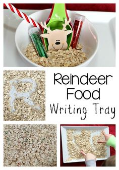 Make magical reindeer food and work on literacy by creating this Christmas writing tray for kids! Perfect for preschool and kindergarten. Preschool Christmas Activities, Christmas Crafts For Kids, Christmas Fun, Christmas Parties, Literacy Activities, Christmas Treats, Xmas, Abc Preschool, Literacy Centres