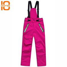 """HOT PRICES FROM ALI - Buy """"Grizzilla kids Professional Winter Ski Pants Girls/boys Warm Waterproof Snow Skiing Snowboard Pants Outdoor Trousers Brand"""" from category """"Sports & Entertainment"""" for only 45 USD. Snowboard Pants, Ski And Snowboard, Snowboarding, Hiking Jacket, Hiking Pants, Outdoor Pants, Outdoor Outfit, Girls Ski Pants, Insulated Bib Overalls"""