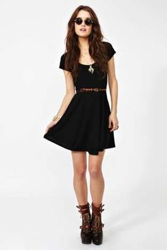 Crossed Skater Dress | Shop Clothes at Nasty Gal