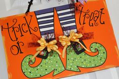 Halloween sign  wood trick or treat by Cutipiethis on Etsy, $40.00