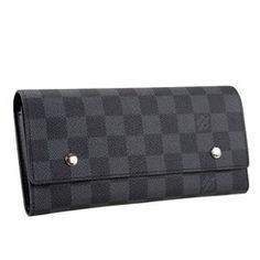 LV Adjustable Damier Graphite Wallet