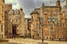 Square in the Lawnmarket, Edinburgh, Scotland
