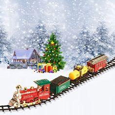 Christmas Train Set- Around the Christmas Tree Holiday Santa Express Train Set