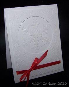 Christmas Card Idea - White on White
