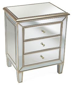 Bevin 3-Drawer Chest, Silver