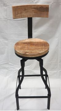 $199, Rustic Bar Stool F7 Rustic Bar Stools, Wood Table, Rustic Furniture, Creations, Chair, Home Decor, Furniture, Woodwind Instrument, Country Furniture