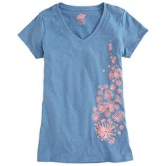 EMS Women's Painted Floral V-Neck T-Shirt Simple brush strokes become carefree flowers on soft organic cotton.  Manufactured entirely within the United States by SustainU, creating new jobs and reopening existing textile factories Recycled yarn resources require zero-virgin growth and minimal transportation, reducing both costs and environmental impact Fiber Content: 50% recycled cotton, 50% recycled polyester  Country of Origin: USA