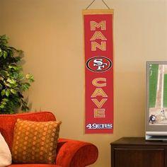 San Francisco 49ers Man Cave Banner - Scarlet