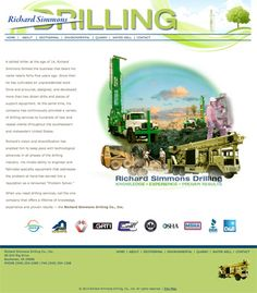 Richard Simmons Drilling Co., Inc. Hand-coded HTML site with search engine optimization and submission. Design by http://www.senglanddesign.com.