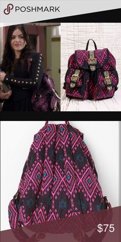 Ecote Backpack Embroidered and studded backpack from Urban Outfitters. As seen on pretty little liars by aria/Lucy hale. Brand new never worn. Super cute with adjustable straps, magnetic closures, outside pockets and inner zipped pocket. Listed under FP for views. Free People Bags Backpacks
