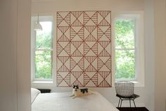 "Make a wall ""quilt"" with tape"