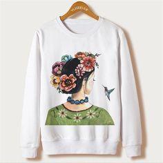 Women Sweatshirt Autumn White Casual Clothing
