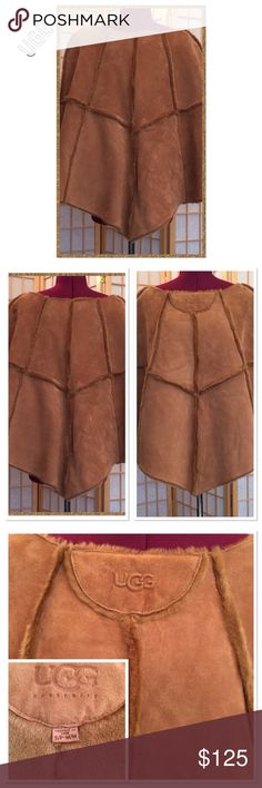 """UGG Poncho NWOT. Sheepskin poncho, fully lined. 25.5"""" in front and back. 23"""" at sides. UGG Jackets & Coats"""