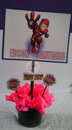 Iron Man 2 Cardboard Candy Cube Candy Pail New