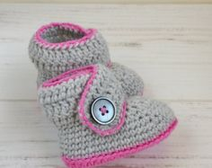 Crochet baby ballerinas in pure cotton with by CucicuHandmade