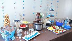 Baby Shower - Boy  Chocolate Fountain Table