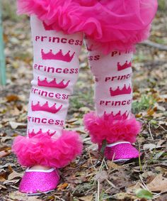 Pink Princess Ruffle Leg Warmers by Diva Daze #zulily #zulilyfinds