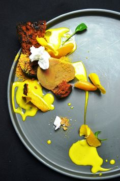 Foie gras with white truffle, coriander & rose syrup   FOUR Magazine