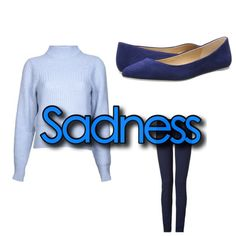 Outfit inspired by Sadness from Inside Out!