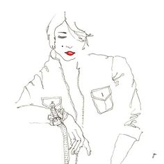 LA PARISIENNE #parisienne #elegance #fashion #mode #model #mannequin #style #attitude #woman #lipstick #illustration #drawing #dessin #sketch #art #instartpics #frankiesharesart #archivecollectivemag #arts_gallery @laabinot_1 #sketch_daily #art_spotlight @top.draw @willdrawteam @talnts