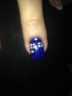 Tardis nails the fan girl in me must have them so cute casey tardis nail art but there are 12 window box things not 8 prinsesfo Gallery