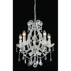 @Overstock - Brighten your home decor with this crystal chandelier  Elegant five-light fixture is beautiful and stylish  Light features a high gloss silver finishhttp://www.overstock.com/Home-Garden/Crystal-5-light-Chandelier/3285762/product.html?CID=214117 $130.99