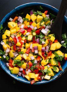 Super fresh and colorful mango salsa! cookieandkate.com