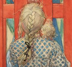 Carl Larsson - Detail from The Fence / By the Fence, 1904