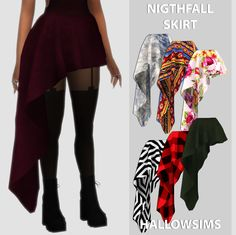 Nightfall Skirt | Hallow-Sims
