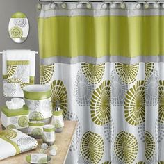 Lime Green/Gray Bathroom accessories also available in Plum/gray - Kohl's