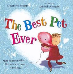 """The little girl wants a pet, but her mother says """"We'll see"""". So the girl tries a rock that she names Fluffy as a pet. Next a glove, a candy wrapper, and a balloon are pets. With imagination, anything can be a pet. But what will be the best pet of all. Bedtime Reading, Pet Rocks, Story Time, Ronald Mcdonald, Little Girls, Balloons, Good Things, Pets, Books"""