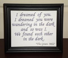 Hey, I found this really awesome Etsy listing at https://www.etsy.com/listing/129038437/stephen-king-quote-in-the-dark-the-green