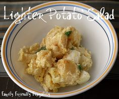 "Lighter ""Yellow"" Potato Salad - made with Greek yogurt"
