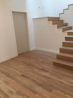 White Oak Stair Treads and Risers and Flooring