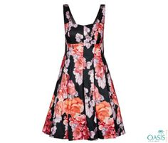 Sleeves Spanish Rose Dress is available at Oasis Plus Size, boutique plus size dresses manufacturers and supplier in USA.