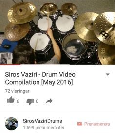 Just uploaded a compilation of my drum videos from this month! Have you subscribed to my YouTube channel yet? Click the link in my bio! I'll be switching my focus and uploading a lot more videos there in the near future. Don't miss out if you're into that stuff!  @meinlcymbals @evansdrumheads @wincentdrumsticks @kingdrums_co @drumtacs @gibraltarhardware by sirosvaziri