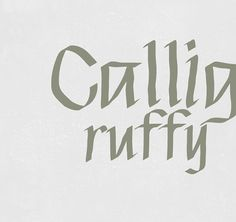 LRC Type Foundry - Calligruffy